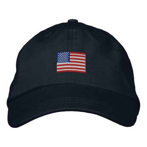 American Flag Hat Embroidered Baseball Cap