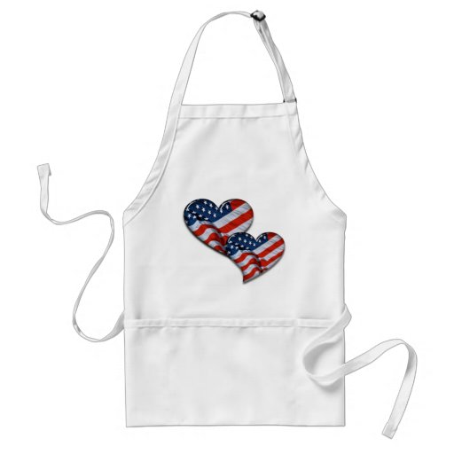 American Flag Heart Adult Apron