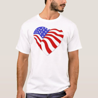 American Flag Heart America USA Valentine Popular T-Shirt