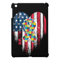 American Flag Heart Autism Awareness Case For The iPad Mini