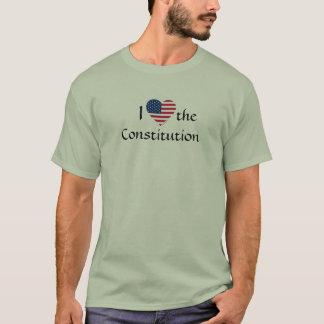 american-flag-heart-clip-art, I, Constitution ,... T-Shirt