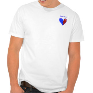 American flag heart customized man of honor shirt