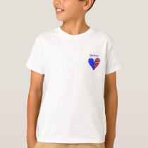 American flag heart customized ring bearer's shirt