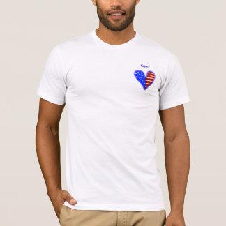 American flag heart customized usher shirt
