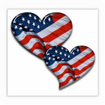 American Flag Heart Photo Cut Outs