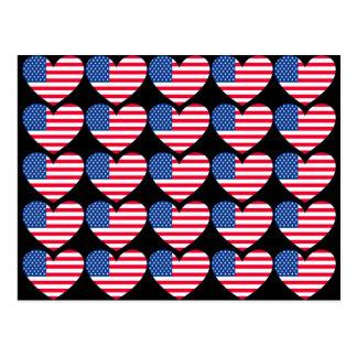 American Flag Heart Postcards