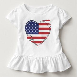 American Flag Heart T Shirt