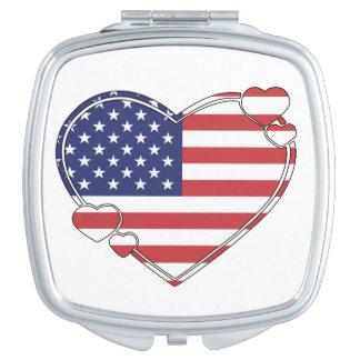 American Flag Heart Vanity Mirror