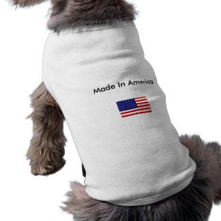 american_flag, hecho en América Playera Sin Mangas Para Perro