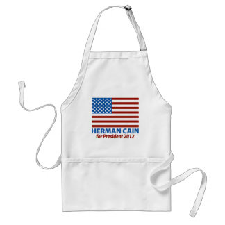 American Flag Herman Cain for President 2012 Adult Apron