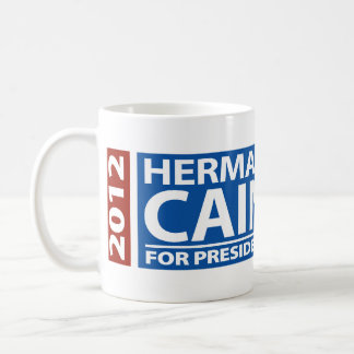 American Flag Herman Cain for President 2012 Coffee Mugs