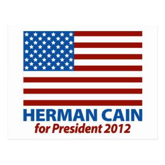 American Flag Herman Cain for President 2012 Postcard