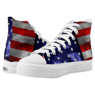 American Flag High Tops Printed Shoes