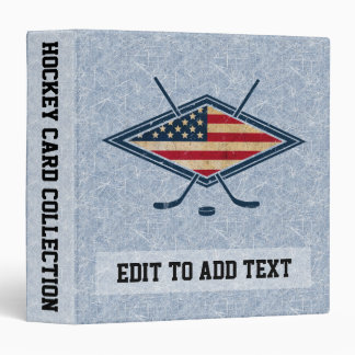 American Flag Hockey Trading Card Album Binder