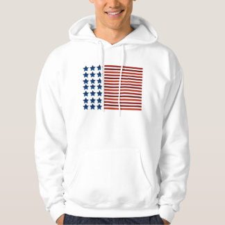American Flag Hooded Pullovers