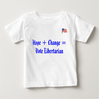 american_flag, Hope + Change =Vote Libertarian Baby T-Shirt