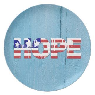 American Flag Hope Dinner Plate