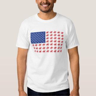 American Flag Horse Rider T-shirt