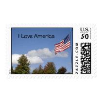 American Flag, I Love America Postage