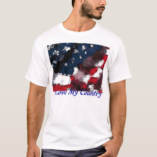 American Flag, I Love My Country T-Shirt