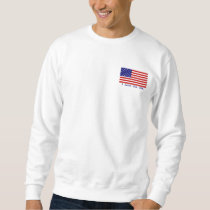 American Flag I Love the USA Sweatshirt