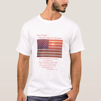 American Flag - If My People T-Shirt