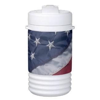 American flag. igloo beverage cooler
