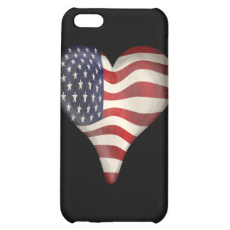 American Flag In A Heart Cover For iPhone 5C