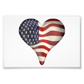 American Flag In A Heart Photo