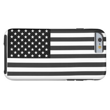 USA Themed American Flag In Black And White Tough iPhone 6 Case