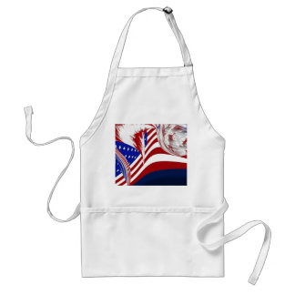 American Flag in Flight Red White Blue Abstract Adult Apron