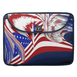 American Flag in Flight Red White Blue Abstract MacBook Pro Sleeve