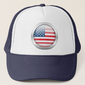 American Flag in Orb Trucker Hat