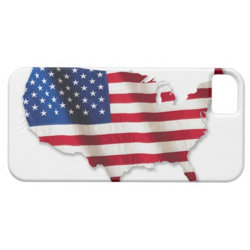 American flag in shape of United States iPhone 5 Covers