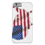 American flag in shape of United States iPhone 6 Case