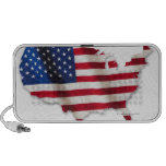 American flag in shape of United States iPhone Speakers