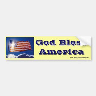 American Flag in Sunlight Car Bumper Sticker