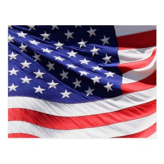 American Flag in the Wind Postcard