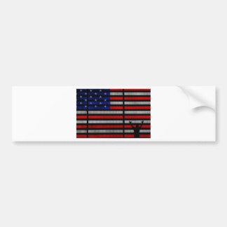 American Flag IN Times Square NYC Car Bumper Sticker