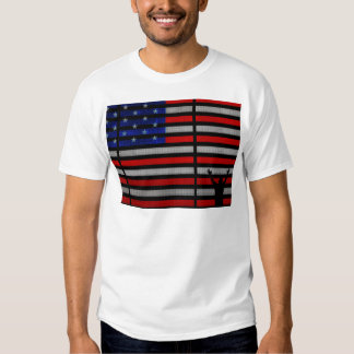 American Flag IN Times Square NYC Tee Shirt