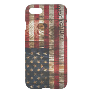 American Flag in wooden bord iPhone 8/7 Case
