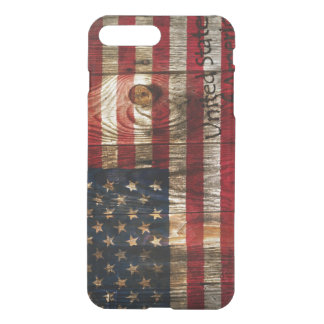 American Flag in wooden bord iPhone 8 Plus/7 Plus Case