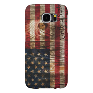 American Flag in wooden bord Samsung Galaxy S6 Case