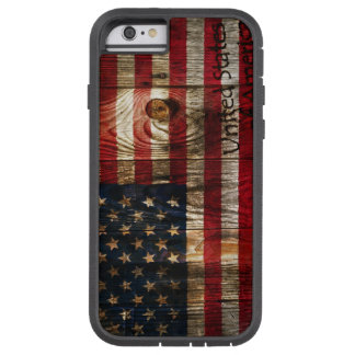 American Flag in wooden bord Tough Xtreme iPhone 6 Case