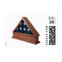 American Flag in Wooden Case Stamps