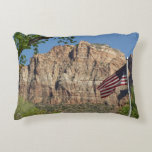 American Flag in Zion National Park I Accent Pillow