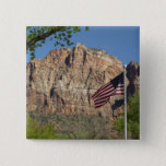 American Flag in Zion National Park I Button
