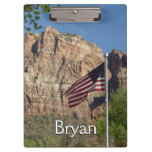 American Flag in Zion National Park I Clipboard