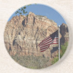 American Flag in Zion National Park I Drink Coaster