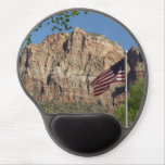 American Flag in Zion National Park I Gel Mouse Pad